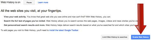 Expand Web History