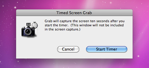 Grab Timed Screen