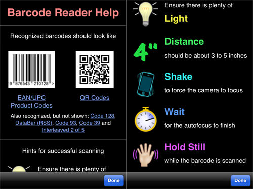 Barcode Scanner Information