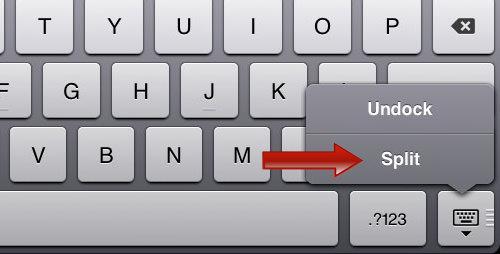 iPad Split button