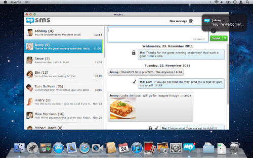 mysms Messenger on Computer