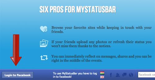 Login Mystatusbar