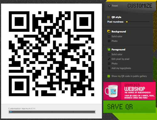 Customize with qr hacker
