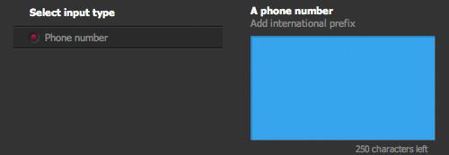 QR Hacker input phone number