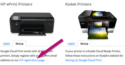 Register Cloud-Ready Printer