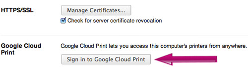 Sign in to Cloud Print