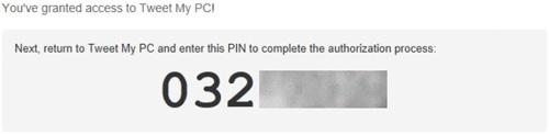 Pin code