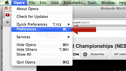 Opera Preferences