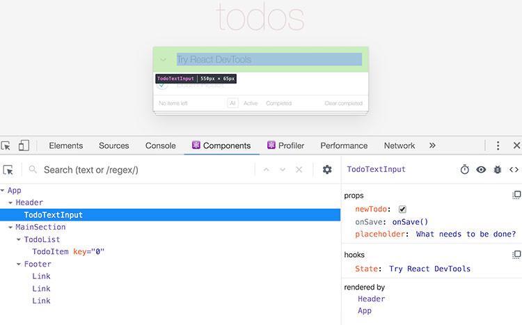 React DevTools for Chrome