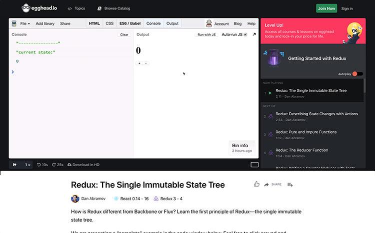 Redux video tutorial