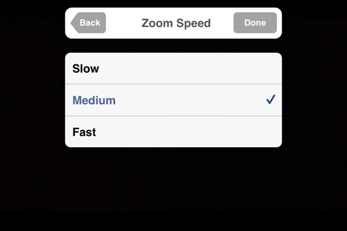 zoom speed