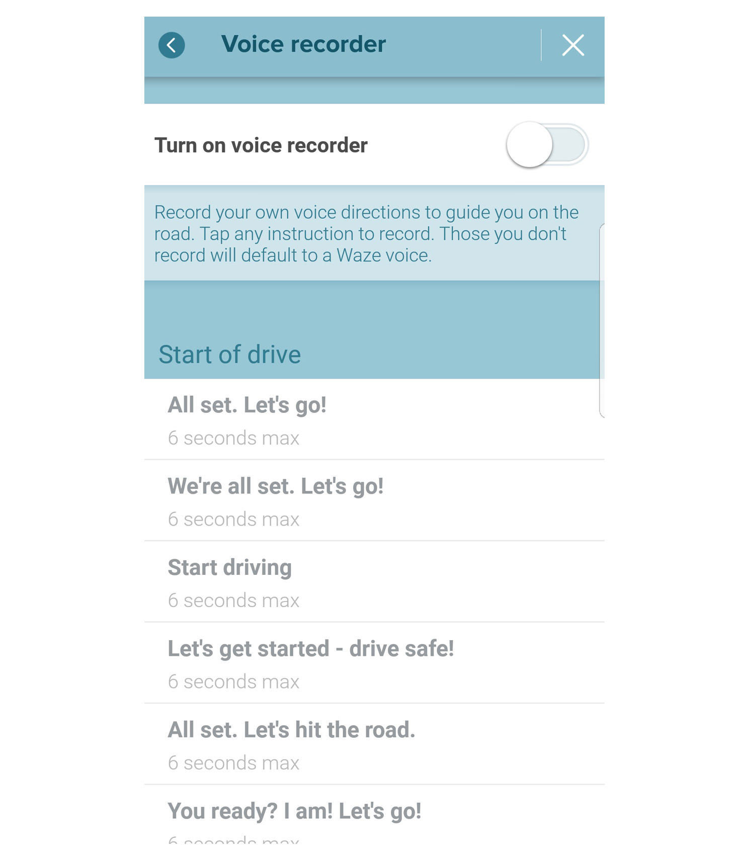waze voice recorder