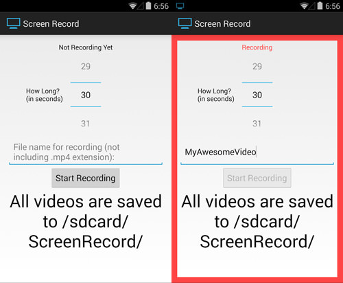 Screen Record (for KitKat+)