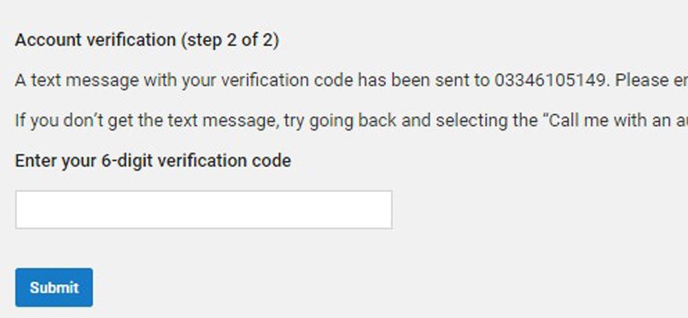 Account Verification Step 2