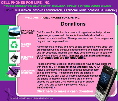 cell phone donation