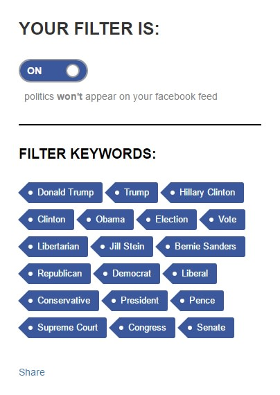 filter keywords