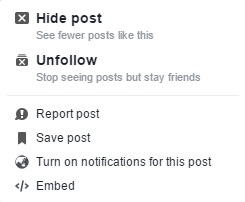 unfollow posts