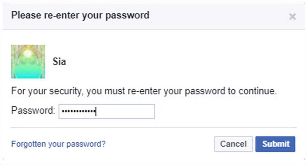 re-enter password