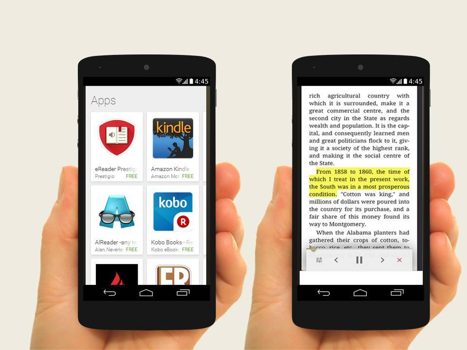 eReader Prestigio from Play Store