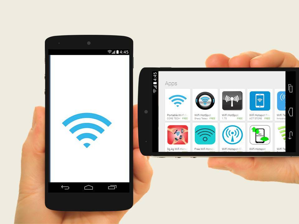 Portable Wi-Fi hotspot from Play Store