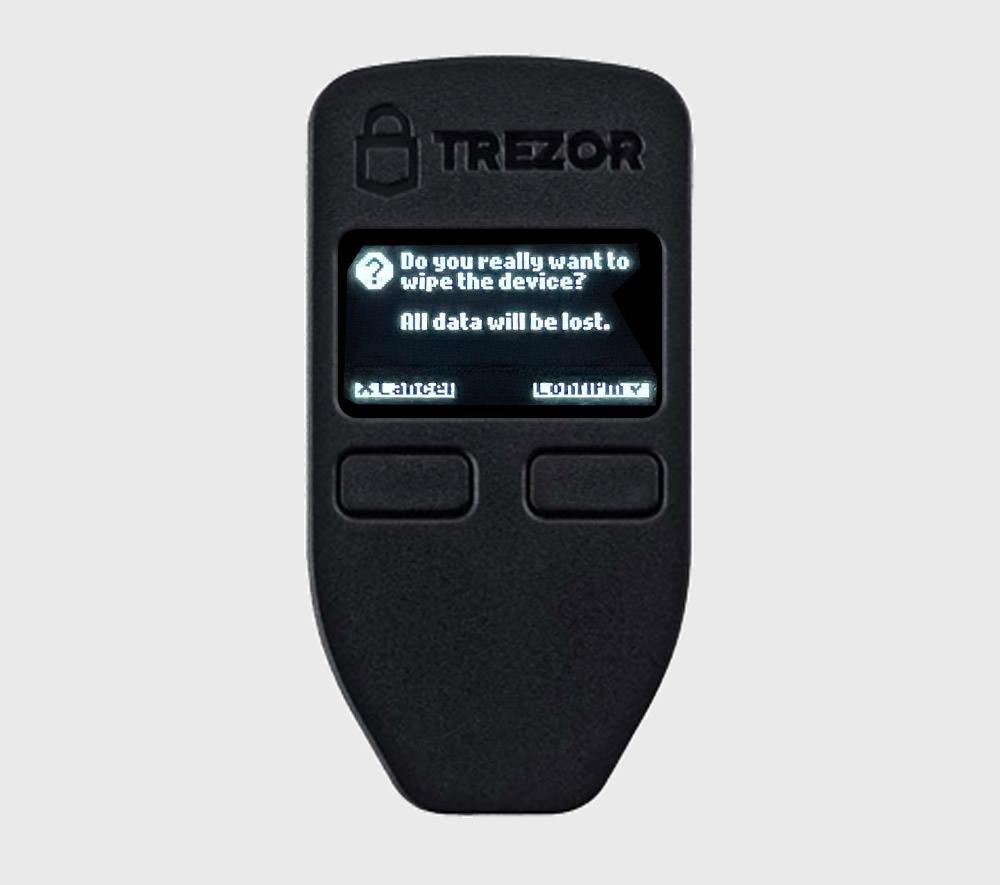 confirm on trezor device