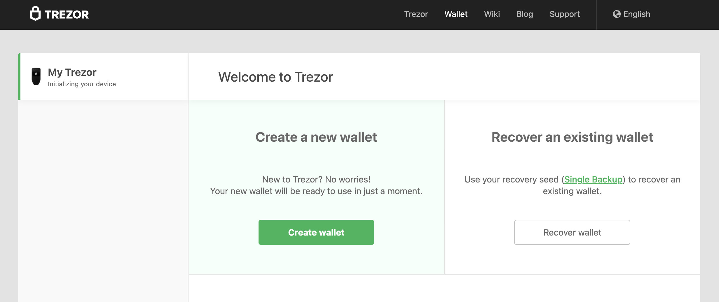 recover trezor wallet