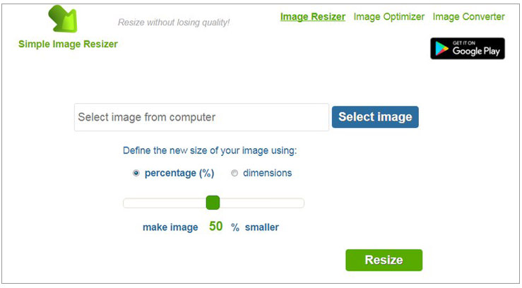 Simple Image Resizer
