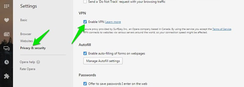 privacy security tab