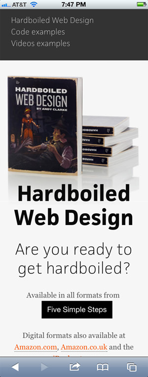 Hardboiled Web Design mobile design