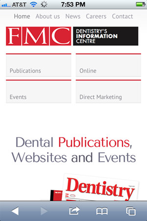 FMC - Dental Information Website for Mobile