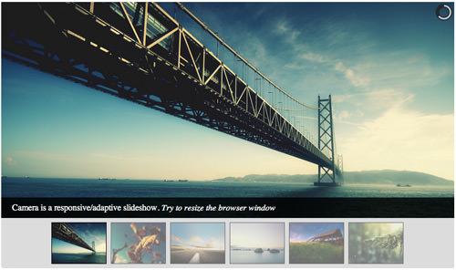 Camera image slider