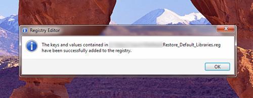 Successfully added registry key