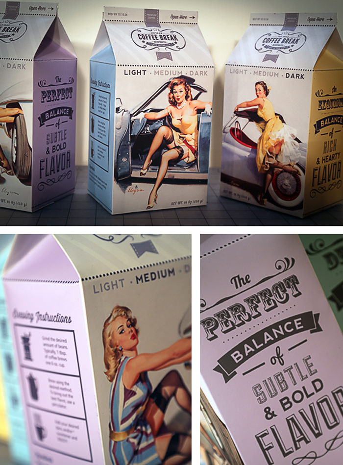 vintage package design