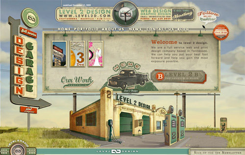 retro web design