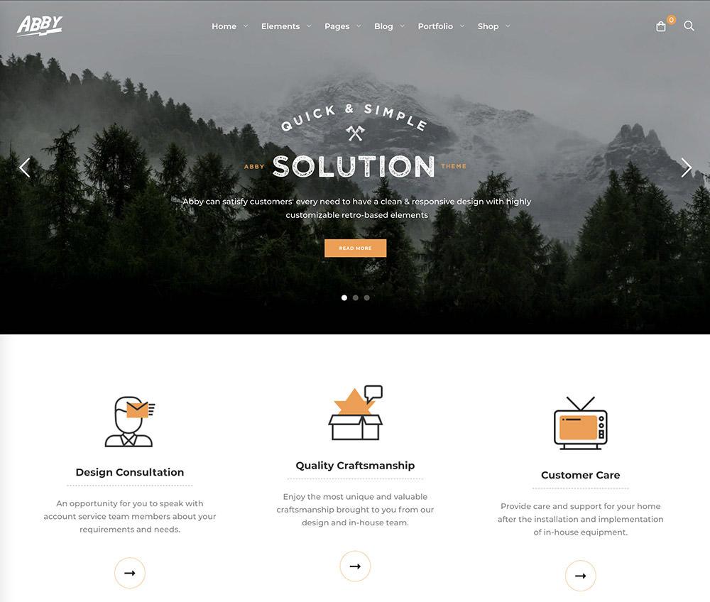 Abby WordPress Theme