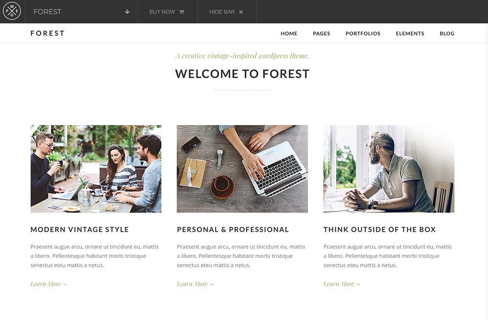 Forest WordPress Theme