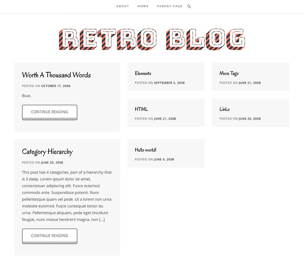 Retro Blog WordPress Theme