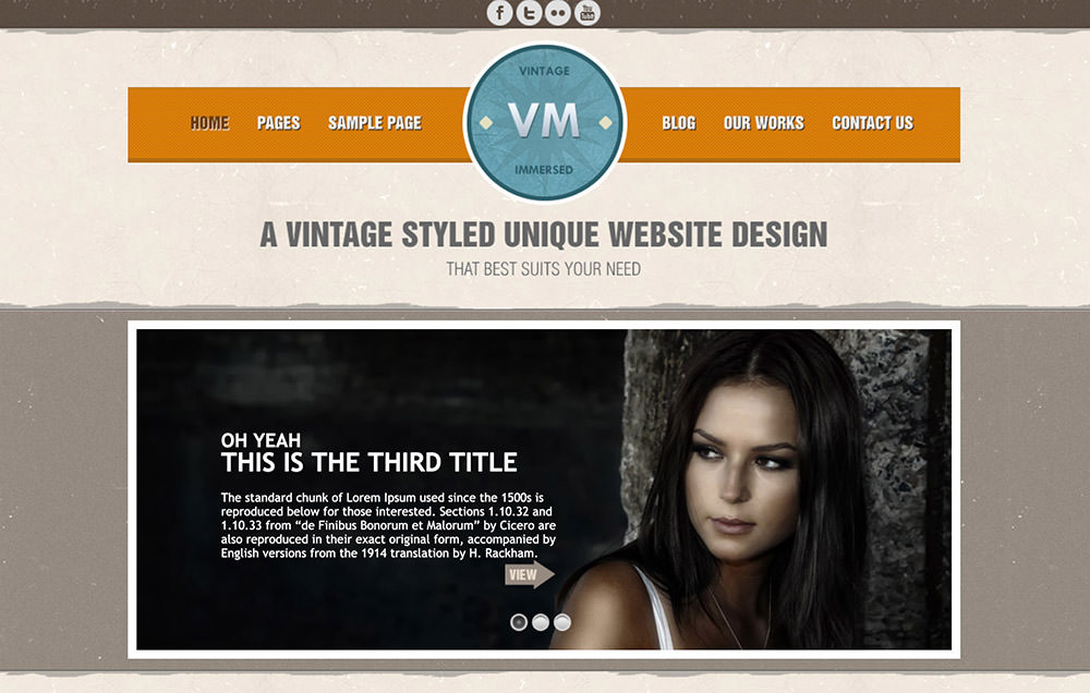 Vintage Immersed WordPress Theme