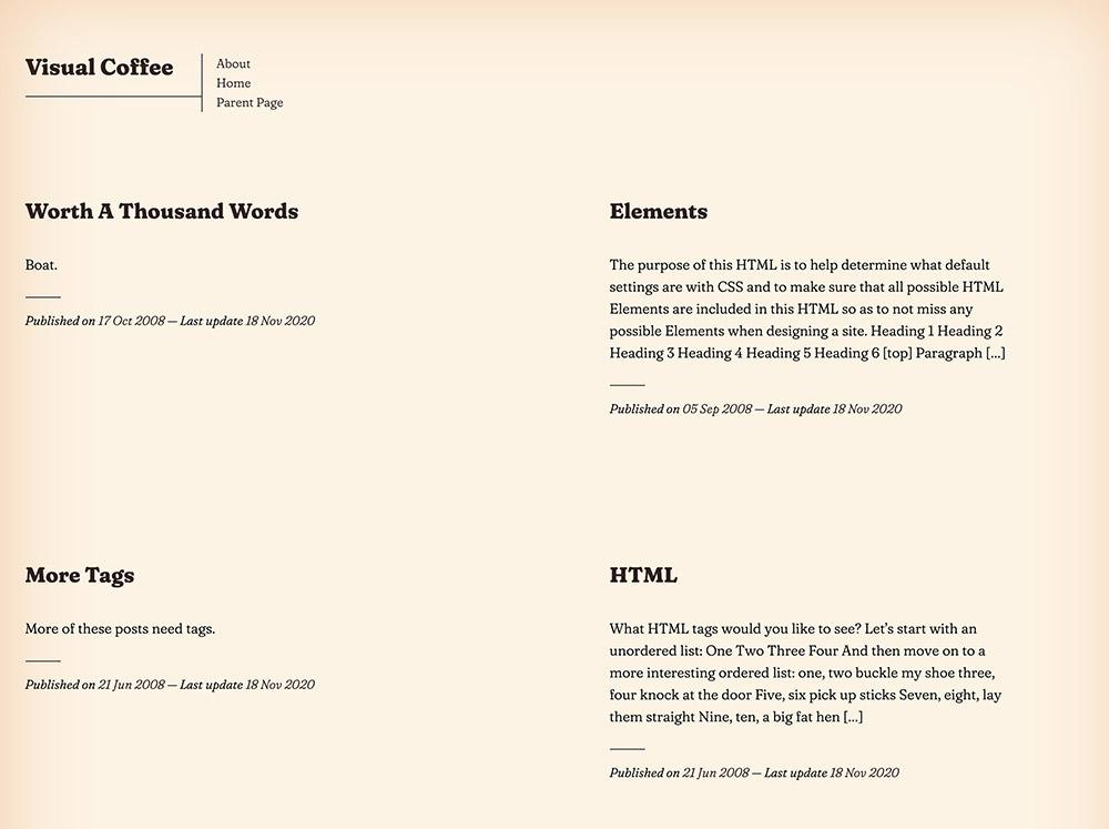 Visual Coffee WordPress Theme