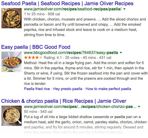 Rich Snippets Recipe Examples