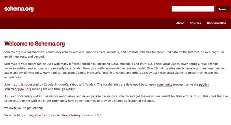 Schema.org Home Page