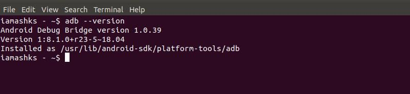 Check if ADB is installed in Linux