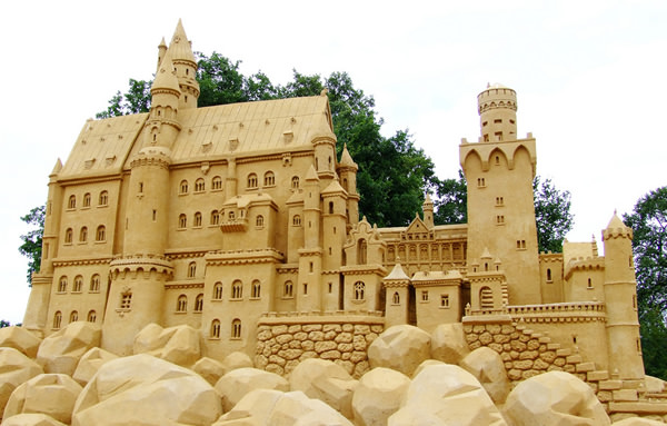 sand castles and sculptures