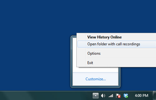 how to view calls folder