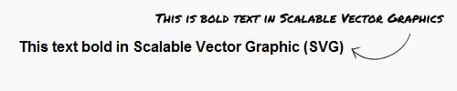 svg text bold