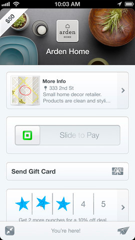 Square Wallet mobile iOS iPhone app payments gateway