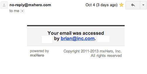 MxHero Accessed Mail