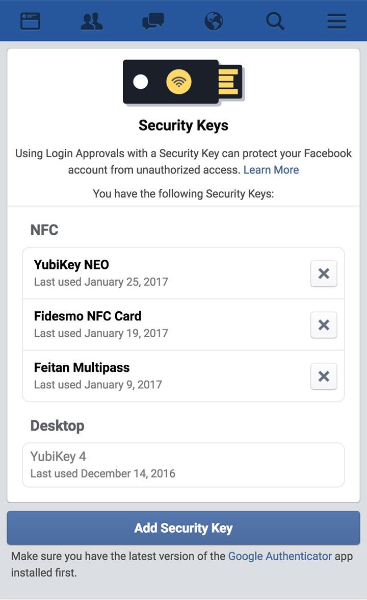 physical keys log in