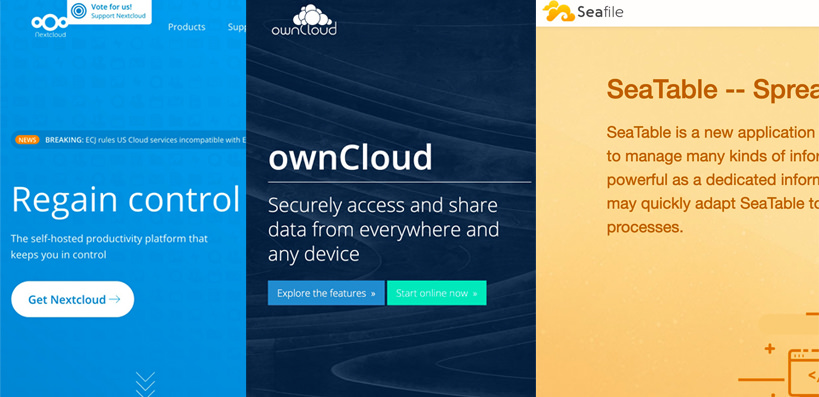 Nextcloud-ownCloud-Seafile
