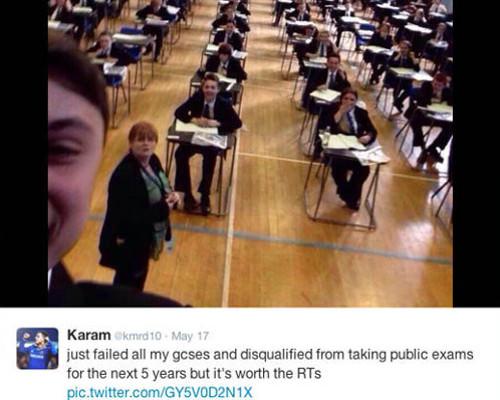 exam selfie